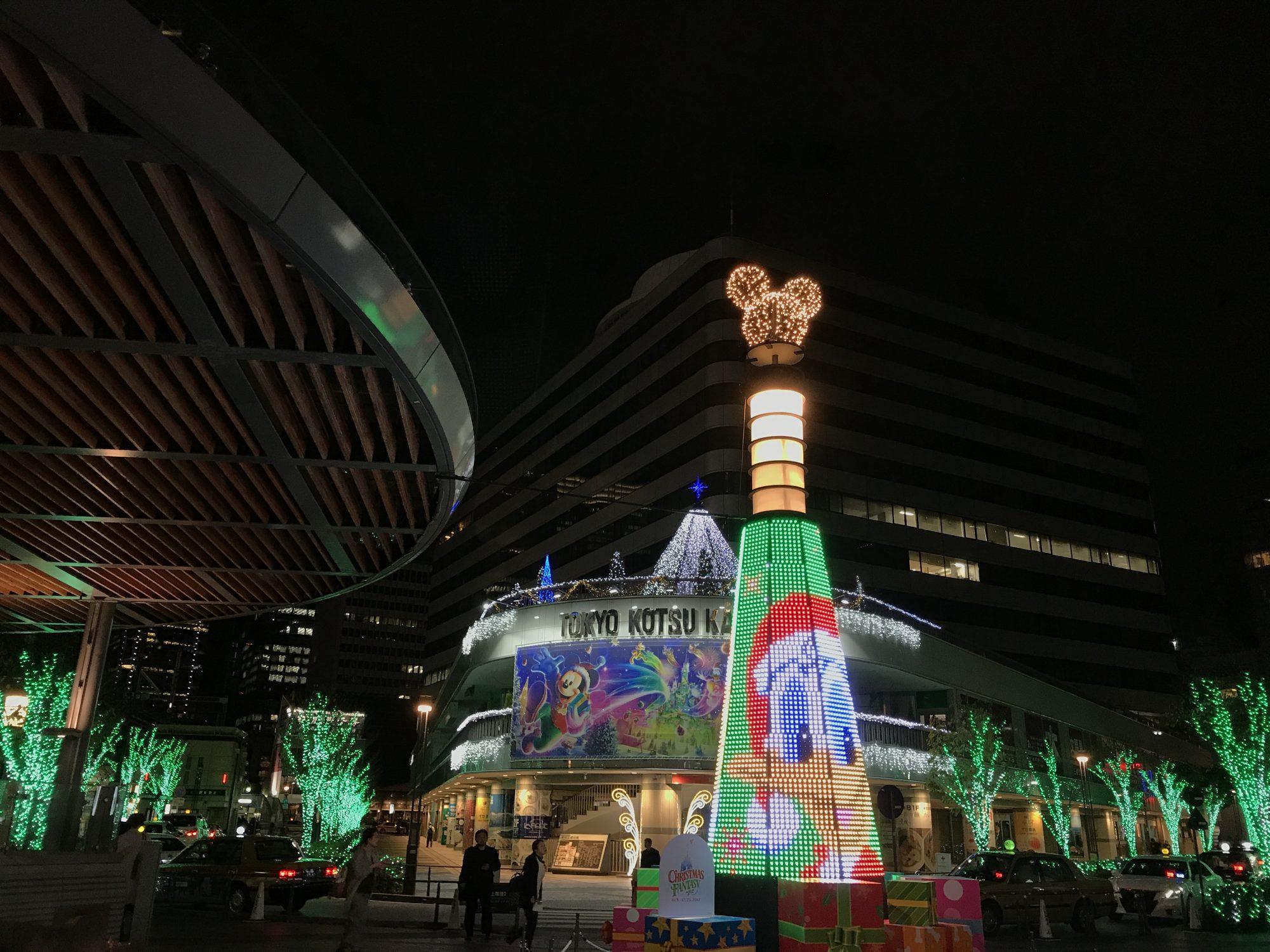 JR有楽町駅前のライトアップ
